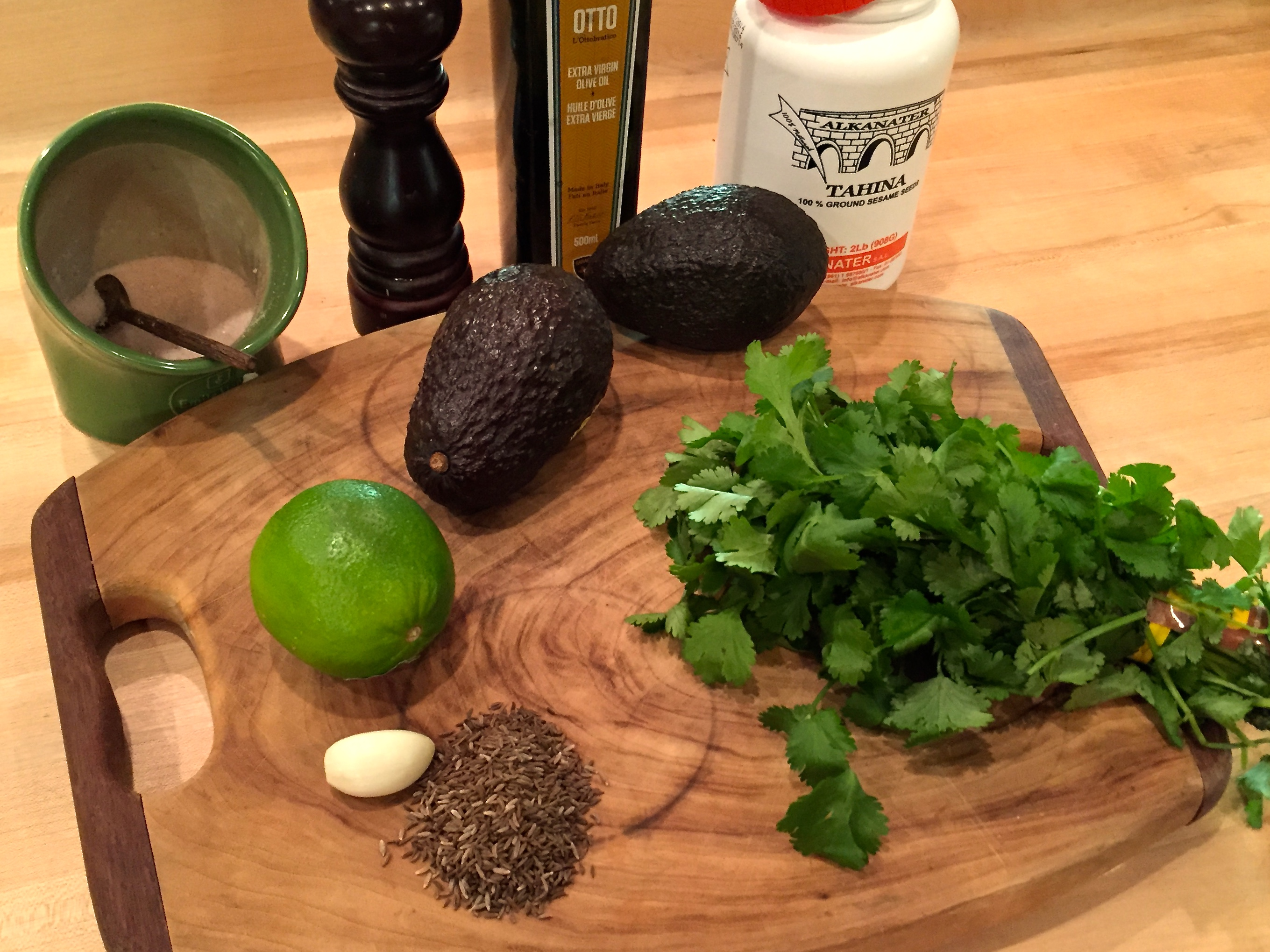 Bio-Bud mung bean and avocado hummus ingredients